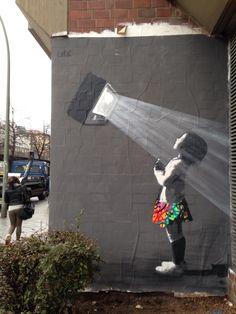 "Street art | Mural ""And the light is"" (Berlin, Germany, Jan15) by Kurar"
