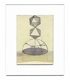 geometric art  The Order of Things  abstract by inthecrystalpalace, $95.00