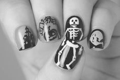 Halloween nails <3