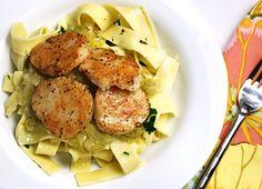 scallops-melted-leeks-pasta