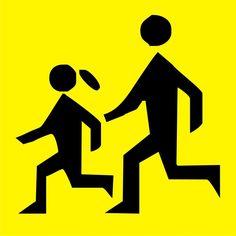 Naklejka Uwaga dzieci. Oznaczenie określa pojazd przewożący zorganizowaną grupę dzieci lub młodzieży do lat 18. Wymiar naklejki: 300 x 300 mm.