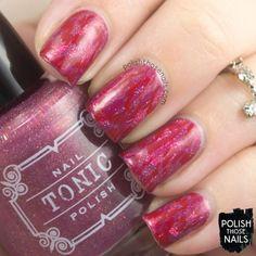 Poison Ikat Rose Abstract // Polish Those Nails // 26 Great Nail Art Ideas Challenge - Pink & Red // Inspired by Marni // indie polish - tonic nail polish - parallax polish (press sample) - zoya - distressed