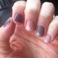 Mix-and-match neutral nails