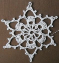 Giant January Snowflake - free crochet pattern