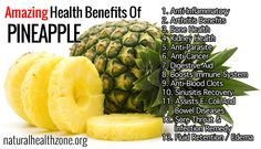 The pineapple is native to southern Brazil and Paraguay, the modern fruit having been developed by native peoples from an almost inedible wild species. The most significant nutritional elements of pineapple are high quantities of vitamin C, manganese and the enzyme bromelain. We've researched and collected a significant amount of information about pineapple health benefits and presented them on this page!