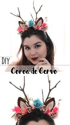 DIY | Como fazer coroa de flores de Cervo - Especial de carnaval!