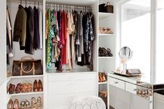 Creating a classy all-white dream closet is ultimately all about the wardrobe.