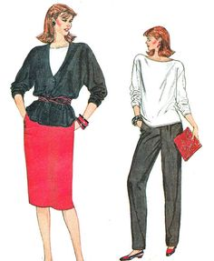 1980s Very Easy Vogue 8748 Dropped Shoulder by paneenjerez on Etsy, $10.00