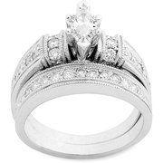 1 Carat Diamond Marquise Bridal Set in 10Kt White Gold  $749.00
