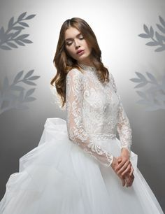 Wedding dresses CONTEMPORARY PRINCESS DIORAMA Fall 2016 Collection - Ersa Atelier, Modern Princess, Contemporary Dresses, Strapless Gown, Fall Wedding Dresses, French Lace, Wedding Styles, Bridal Gowns, Ball Gowns