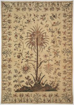 I felt an immediate connection with the palampore in Cooper-Hewitt's collection. My mother is a textile designer who works mainly with botanical imagery, Indian Textiles, Indian Fabric, Antique Quilts, Vintage Textiles, Vintage Quilts, Textile Prints, Textile Design, Fabric Design, Flowering Vines