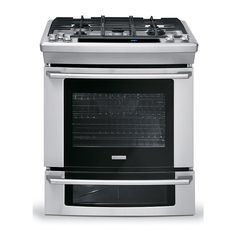 "Electrolux - EW30DS75KS - 30"" Dual-Fuel Slide-In Range w/ Wave-Touch® Controls - Stainless Steel 