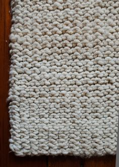 Big Stitch Knit Rug - the purl bee