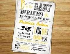 Bird  Girl baby shower invitation /invite  by 2birdstudios on Etsy, $18.00