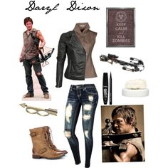 Inspired by Norman Reedus as Daryl Dixon on The Walking Dead. Walking Dead Clothes, Walking Dead Costumes, Daryl Dixon Walking Dead, The Walking Dead, Casual Outfits, Cute Outfits, Fashion Outfits, Zombie Apocalypse Outfit, Themed Outfits