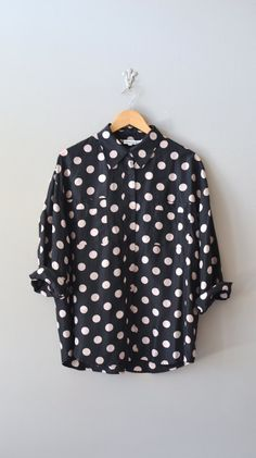 polka dot blouse / silk blouse / Nudie Dot blouse - With white capri's and a red cami under - jw