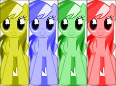 Rainbow Dash Puppet Rig Color Bars