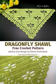 This Crochet Dragonfly Stitch Shawl Will Delight Any Dragonfly Lover Out There! - Knit And Crochet Daily This Crochet Dragonfly Stitch Shawl Will Delight Any Dragonfly Lover Out There! Always aspired to figure out how to knit. Poncho Crochet, Crochet Shawls And Wraps, Crochet Scarves, Crochet Clothes, Free Crochet, Crochet Skull, Shawl Patterns, Crochet Stitches Patterns, Crochet Capas