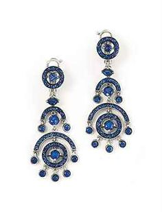 A pair of sapphire 'Ava' earrings, by Boucheron