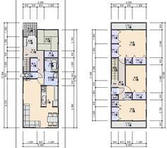 狭小住宅の間取り 33坪北入り2.5間の間口のプラン