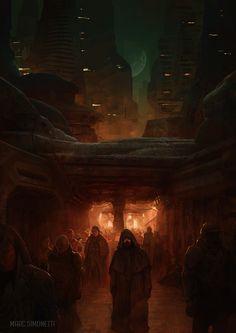 """""""Muad'Dib in Arakeen Interior illustration for """"Dune Messiah"""" by Frank Herbert for Centipede Press"""