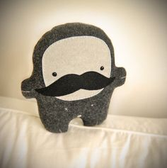 #Bambak, stuffed guy with big mustache from http://www.etsy.com/listing/75543412/bambak-stuffed-guy-with-big-mustache so cute :3