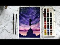 Watercolor Painting 'Catch the Stars' - YouTube