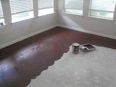 painting concrete floor