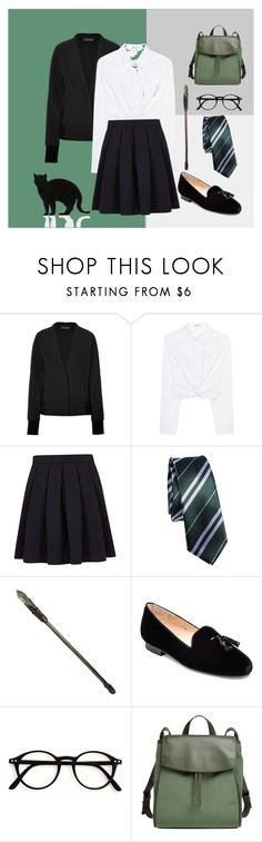 """Slytherin Uniform"" by pinkieberry on Polyvore featuring DAMIR DOMA, T By Alexander Wang, George, Jon Josef, Skagen and 157+173 designers"