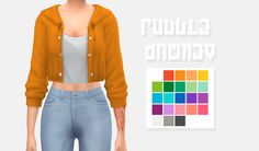 Puddle Jacket // @ridgeport's cc recolor• Comes in 22 colors @pxelbox's vibrancy palette • Custom Thumbnail • Mesh required ! • Hope you like this recolor ! DOWNLOAD [MESH]