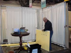 Trade show booth supported with Kee Lite pipe fittings.