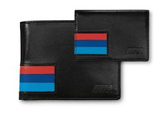 Wallet with BMW M stripes and embossed BMW M logo #bmw #gifts