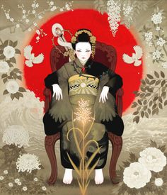 Beautiful Women In Kimono Grace The Breathtaking Artwork Of Miki Katoh – grape Japan Japanese Art Modern, Japanese Artists, Japanese Culture, Geisha Art, Amaterasu, Painter Artist, Building Art, Tumblr, Cat Photography