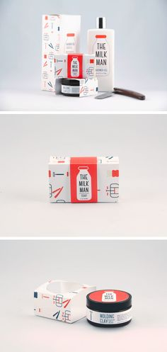 Packaging for The Milk Man products