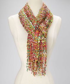 Take a look at this Red & Green Space Dye Confetti Scarf by Collection 18 on #zulily today!