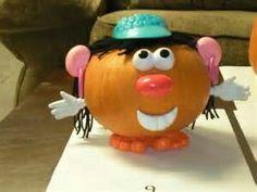 Halloween Decorated Pumpkin: Potato Head