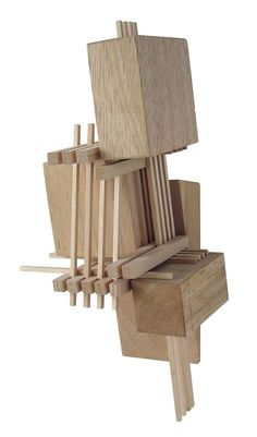 Construction 7, wood sculpture inspired by architectural models