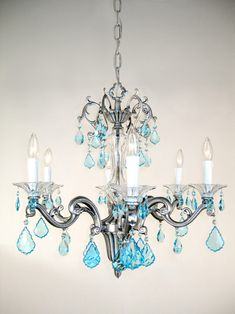 Diy chandelier makeovers blue chandelier redo easy ideas for old classic lighting 57106 ms 27 crystal chandelier from the via firenze collection crystalique sapphire aloadofball Gallery
