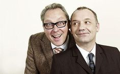 Vic Reeves and Bob Mortimer, for making such an off the wall comedy show a success. Comedy Duos, Comedy Actors, You Make Me Laugh, Laugh Out Loud, Vic Reeves, Michael Mcintyre, Great Comedies, Stuff And Thangs, Guest List