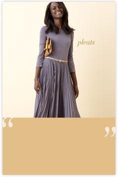 beautiful pleats
