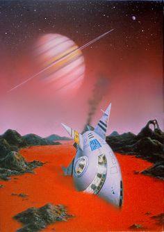 Crash Landing On Titan by AlanGutierrezArt