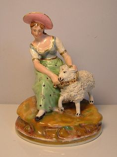 Staffordshire porcelain figure, Dudson sheep shearer | by jesdavies