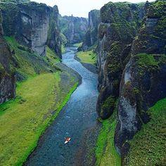 Fjaðrárgljúfur Canyon - Iceland  Pic  @ChrisBurkard