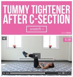 Safely tighten your tummy after your c-section with this workout.