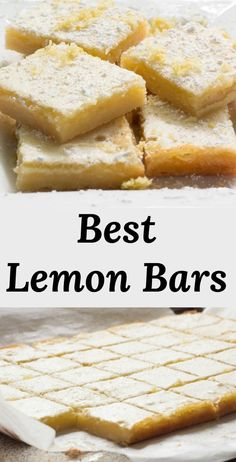 recipe for the Best Lemon Bars with a Shortbread crust. Add a bit of sunshine to your life! via Pear Tree Kitchen - -Easy recipe for the Best Lemon Bars with a Shortbread crust. Add a bit of sunshine to your life! via Pear Tree Kitchen - - Lemon Dessert Recipes, Köstliche Desserts, Sweet Recipes, Recipes For Lemons, Desserts With Lemon, Recipes With Lemon, Non Chocolate Desserts, Easter Recipes, Cheesecake Recipes
