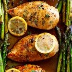 One Pan Honey Lemon Chicken Asparagus is THE ultimate sheet pan meal, perfect for meal preps or for lunch and dinner!   http://cafedelites.com