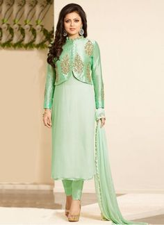 Drashti Lime Green Churidar Salwar Suit