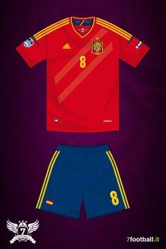Spain Euro 2012 home kit