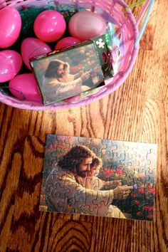Puzzle pieces in Easter eggs and other Easter and General Conference ideas.