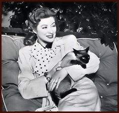 """""""Ramadhipati IV"""" was a present dynasty of Siamese cats that have been pets   in the Greer Garson home, formerly in England and now in California."""